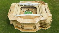 Watch: Man makes Centre Court replica using 12,000 toothpicks