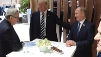 Путин и Трамп пожали друг другу руки