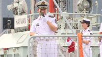 China's first aircraft carrier arrives in HK