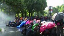 ဂျီ ၂၀ ထိပ်သီးအစည်းအဝေးနဲ့ ဆန္ဒပြပွဲ
