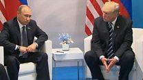 Путин менен Трамп Гамбургда жолугушту