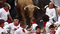 Pamplona bull festival gets under way