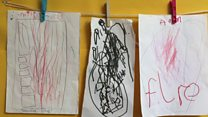 Grenfell Tower pictures drawn in nursery