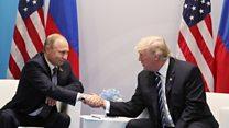 ТВ-новости: встреча на Эльбе президентов США и России