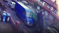 Stolen truck drags car through street