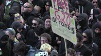 تظاهرات مخالفان سیاستهای گروه بیست در آلمان