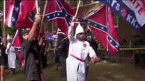 Clashes at KKK rally in Virginia