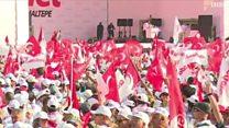 مظاهرة في اسطنبول احتاجاجا على سياسات اردوغان