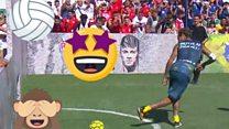 Neymar's soccer showboating!!