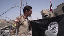 """هذه """"أخر راية لداعش في الموصل القديمة"""""""