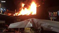 Пожар в Кэдмен Лок: легендарный рынок едва не уничтожило огнем