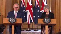 Australia aims for UK trade deal 'soon'