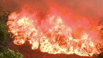 Children rescued from California wildfire