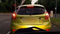 Dashcam captures 'distracted' driver