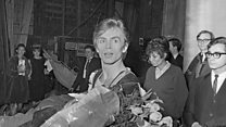 Defection of Soviet ballet star Rudolf Nureyev