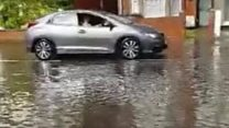 Flash flooding hits coastal town
