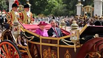 King of Spain's carriage ride to palace