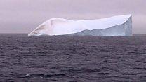 انفصال جبل جليد يزن تريليون طن في القارة القطبية الجنوبية