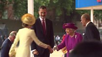 King of Spain in state visit to UK