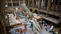 Timelapse of museum's new star attraction
