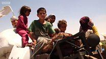 رقہ کے پناہ گزین