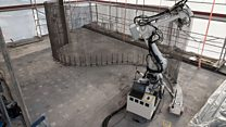 Robots and 3D printers begin house build
