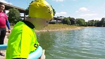 Open swimming lessons in Aston Reservoir