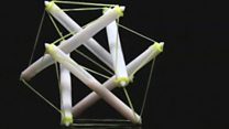 3D-printed structures change shape with heat