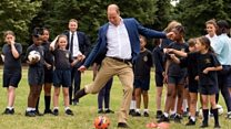 William scores against England footballer