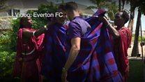 Wachezaji wa Everton wakutana na morani Tanzania