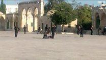 بالفيديو: إطلاق نار بالقرب من المسجد الأقصى