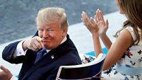 Trump applauds troops at Paris Bastille Day parade