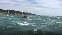 Students pedalo around Isle of Wight