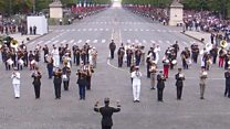 Bastille Day: French army band plays Daft Punk