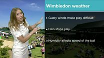 How does the weather affect Wimbledon?