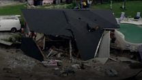 Sinkhole swallows two houses in Florida