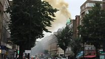 Fire breaks out in central London