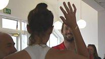 Wimbledon champ's high five for hitter
