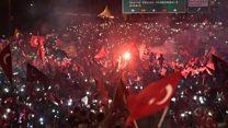 Erodgan addresses Istanbul crowd