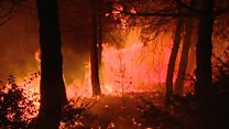 Wildfires rage across Europe