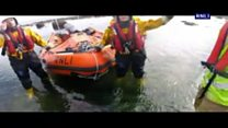 RNLI crews rescue cyclist after fall