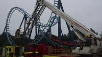 Man rescued from stranded rollercoaster