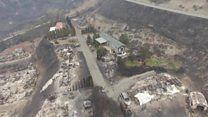 Drone shows Canada wildfire devastation