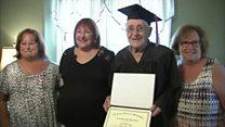 97-year-old veteran graduates high school