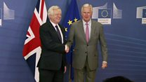 Davis and Barnier resume Brexit talks
