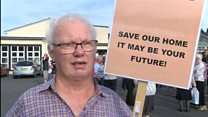 Protest ahead of care home meeting