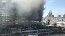 Пожар вспыхнул в высотке в центре Москвы