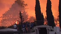 Fires threaten Croatian city Split