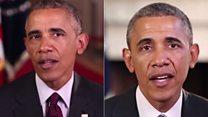 """أوباما """"مزيف"""" بتقنية الذكاء الإصطناعي"""