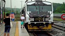 La moderna y desolada estación de tren entre Corea del Sur y Corea del Norte, en la zona más militarizada del mundo